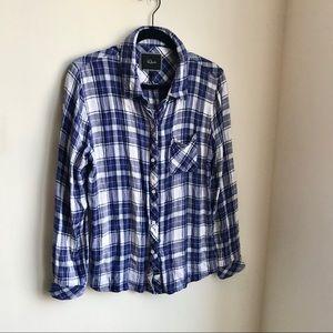 Rails Hunter Violet Plaid Flannel Button Down L